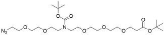 N-(Azido-PEG2)-N-Boc-PEG3-t-butyl ester