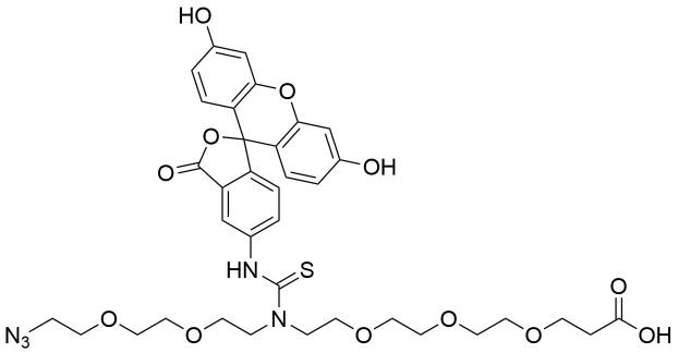 N-(Azido-PEG2)-N-Fluorescein-PEG3-acid