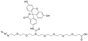 N-(Azido-PEG2)-N-Fluorescein-PEG4-acid