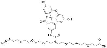 N-(Azido-PEG3)-N-Fluorescein-PEG3-acid