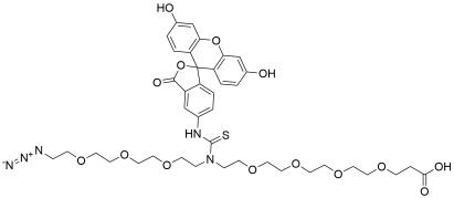 N-(Azido-PEG3)-N-Fluorescein-PEG4-acid