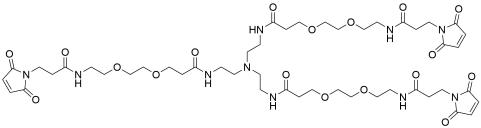 Tri(Mal-PEG2-amide)-amine