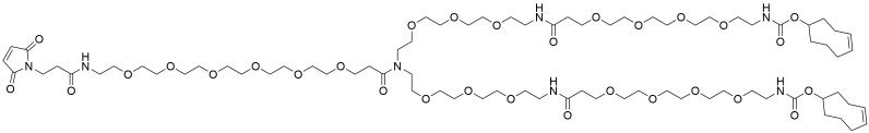 N-(Mal-PEG6)-N-bis(PEG7-TCO)