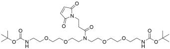 N-Mal-N-bis(PEG2-NH-Boc)