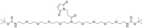N-Mal-N-bis(PEG4-NH-Boc)