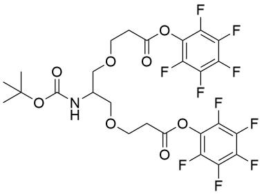 2-(t-Butoxycarbonylamido)-1,3-bis(PFP-oxycarbonylethoxy)propane