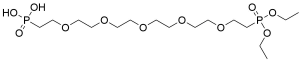 Diethoxy-phosphorylethyl-PEG5-ethylphosphonic acid