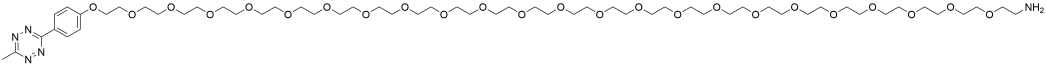 Methyltetrazine-PEG24-amine HCl salt