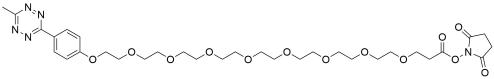 Methyltetrazine-PEG8-NHS ester