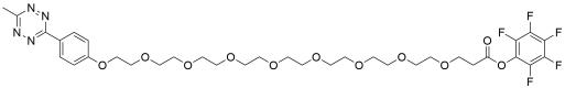 Methyltetrazine-PEG8-PFP ester