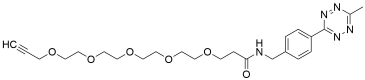 Methyltetrazine-amido-PEG5-alkyne