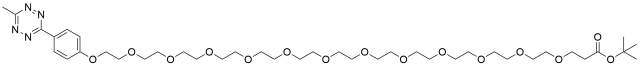 Methyltetrazine-PEG12-t-butyl ester