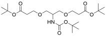 2-(t-Butoxycarbonylamido)-1,3-bis (t-butoxycarbonylethoxy)propane