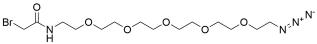 Bromoacetamido-PEG5-azide
