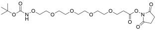 t-Boc-Aminooxy-PEG4-NHS ester