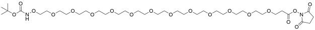t-Boc-Aminooxy-PEG12-NHS ester