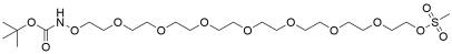 t-Boc-Aminooxy-PEG8-Ms