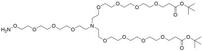 N-(Aminooxy-PEG3)-N-bis(PEG4-t-butyl ester)