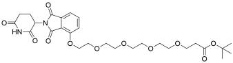 Thalidomide-O-PEG4-t-butyl ester