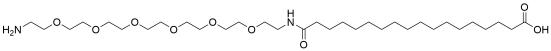17-(Amino-PEG6-ethylcarbamoyl)heptadecanoic acid
