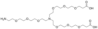 N-(Amino-PEG3)-N-bis(PEG3-acid) HCl salt