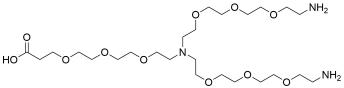 N-(acid-PEG3)-N-bis(PEG3-amine)