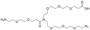 N-(Azido-PEG3)-N-(PEG2-amine)-PEG3-acid