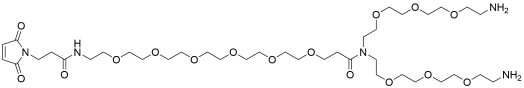 N-(Mal-PEG6)-N-bis(PEG3-amine) TFA salt