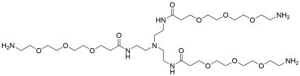 Tri(Amino-PEG3-amide)-amine TFA salt