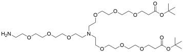N-(Amino-PEG3)-N-bis(PEG3-t-butyl ester) HCl salt