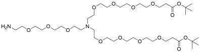 N-(Amino-PEG3)-N-bis(PEG4-t-butyl ester)