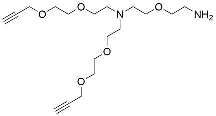 N-(Amino-PEG1)-N-bis(PEG2-propargyl) HCl salt