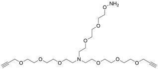 N-(Aminooxy-PEG2)-N-bis(PEG3-propargyl)
