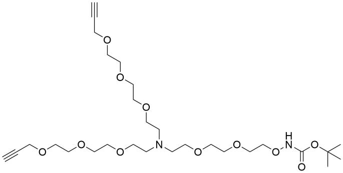 N-(t-Boc-Aminooxy-PEG2)-N-bis(PEG3-propargyl)